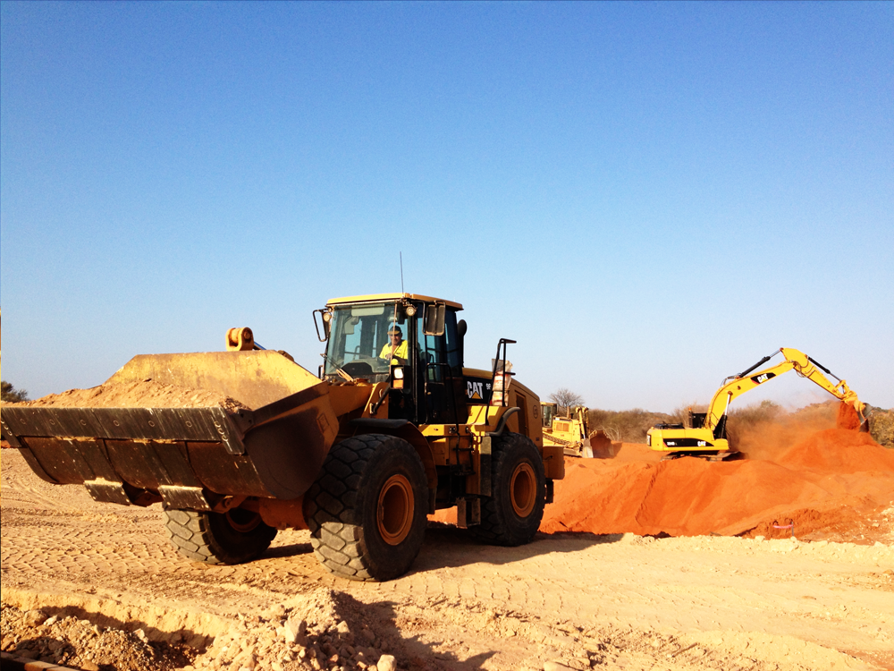 earthmoving equipment on site at a civil earthworks project in Geraldton WA