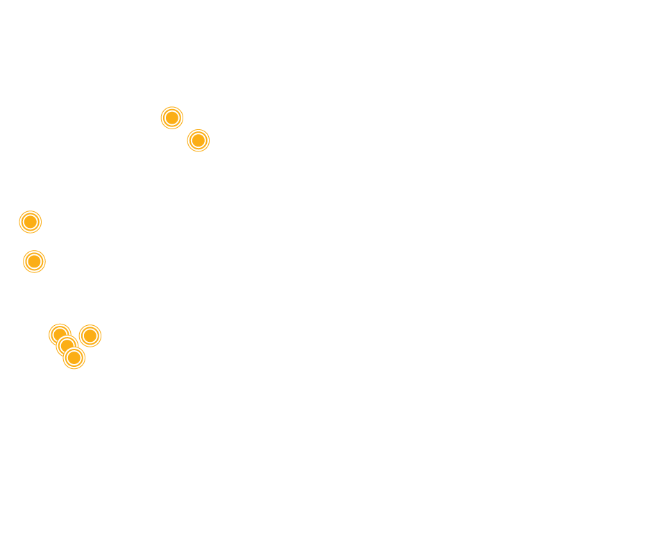 A map of earthmoving project locations around Western Australia